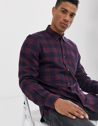 French Connection large gingham flannel shirt-Red