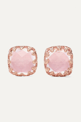 Larkspur & Hawk Jane Small 18-karat Rose Gold-dipped Quartz Earrings - one size