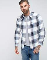 Levi's Levis Barstow Western Check Shirt Night Watch Blue