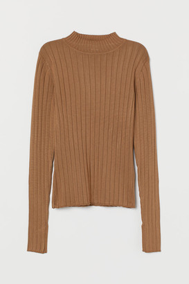 H&M Ribbed Sweater - Beige