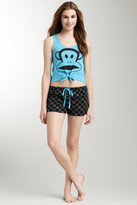 Paul Frank Cropped Teal Tank & Short Set