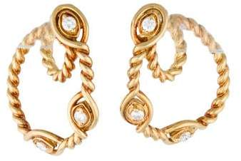 Christian Dior Diamond Rope Loop Earrings