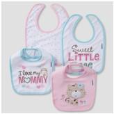 Gerber Baby Girls' 4 Pack Terry Bib Set Kitty