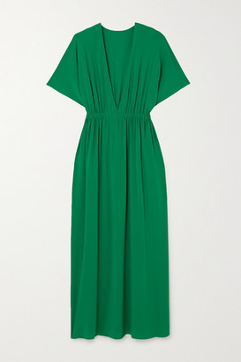 Eres Mira Gathered Stretch-jersey Maxi Dress - Green