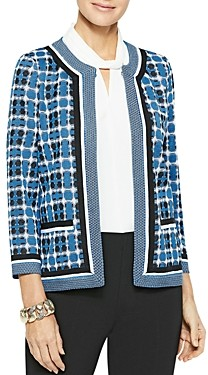 Misook Double Check Jacquard Knit Jacket
