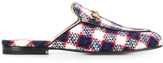 Gucci Princetown checked tweed loafers