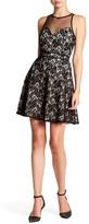 Minuet Floral Mesh Midi Dress