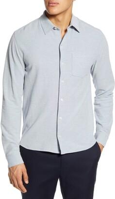 Vince Heathered Slim Fit Pique Shirt