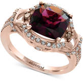 Effy Final Call Rhodolite Garnet (3-3/8 ct. t.w.) and Diamond (1/2 ct. t.w.) Ring in 14k Rose Gold