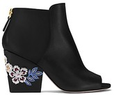 Tory Burch Embroidered Floral Booties