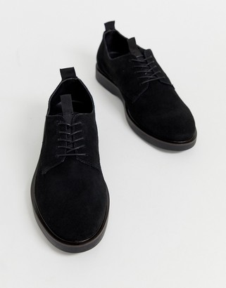 H By Hudson Barnstable derby shoes in black suede
