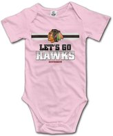 Pegginaro Baby's Chicago Blackhawks Let's Go Hawks Sleeveless Romper Jumpsuit
