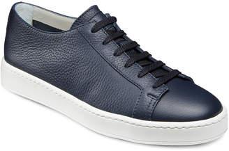 Santoni Men's Clean Iconic Leather Low-Top Sneakers, Navy