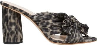 Loeffler Randall Penny Knotted Leopard Slide Sandals