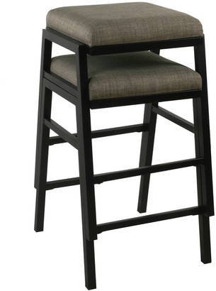 HomePop Stacking Gray Counterstools 2-piece Set