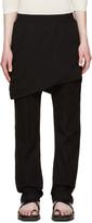 Thamanyah Black Asymmetric Razor Trousers