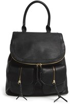 Sole Society Faux Leather Backpack - Black