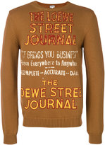 Loewe slogan embroidered sweater - men - Cotton/Polyamide - M