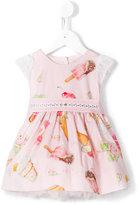 MonnaLisa ice cream print dress - kids - Cotton/Polyamide/Polyester - 6 mth