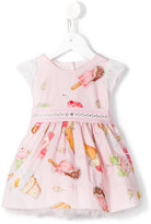 MonnaLisa ice cream print dress - kids - Cotton/Polyester/Polyamide - 6 mth