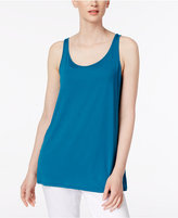Eileen Fisher Stretch Jersey Scoop-Neck Tank Top