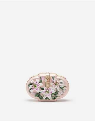 Dolce & Gabbana Metal Dolce Box Bag In Painted Lilium Pattern