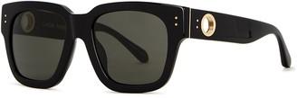 Linda Farrow Luxe Amber Black Square-frame Sunglasses