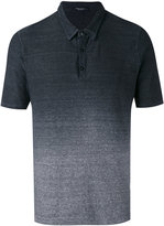 Roberto Collina gradient print polo shirt - men - Cotton/Linen/Flax - 50