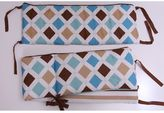 Bacati Mod Diamonds & Stripes Crib Bumper