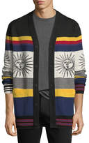 Ovadia & Sons Striped Sunny Wool Cardigan
