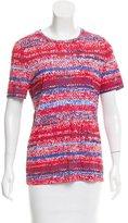Tory Burch Knit Print Short Sleeve T-Shirt