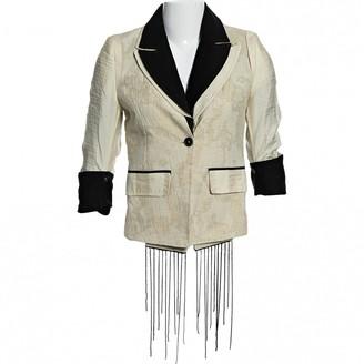 Ann Demeulemeester Ecru Cotton Jackets