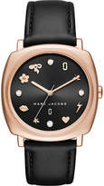 Marc Jacobs MJ1565 Mandy stainless steel and leather watch