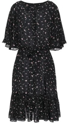 By Ti Mo Ruffled Floral-print Mousseline Dress
