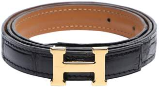 Hermes H Black Exotic leathers Belts