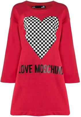 Love Moschino graphic-print sweatshirt dress
