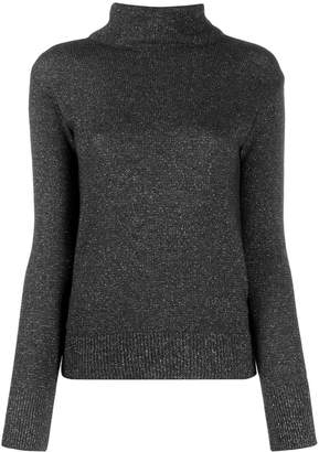 Etro speckle-effect roll neck jumper