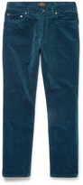 Beams Slim-Fit Cotton-Blend Corduroy Trousers