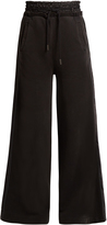 Off-White Satin-trimmed wide-leg track pants