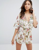 Oh My Love Romper With Kimono Sleeves