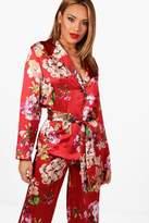 boohoo Henrietta Floral Print Suit Blazer