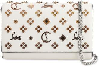 Christian Louboutin Paloma Leather Louby In The Sky Clutch