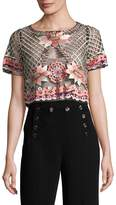 Temperley London Women's Belle Lattice Crop Top