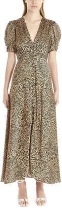 Saloni Lea Leopard Print Dress