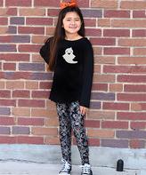 Beary Basics Black Ghost Tunic & Spiderweb Leggings - Toddler & Girls