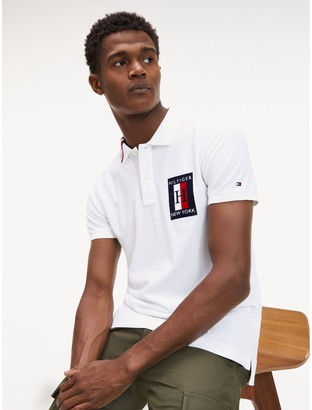 Tommy Hilfiger Slim Fit Stripe Collar Polo