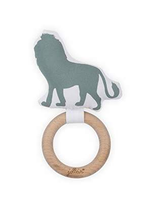 Camilla And Marc Jollein Teething Ring, 7 cm, Safari Forest Green