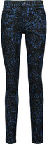 Proenza Schouler Paint-splattered high-rise skinny jeans
