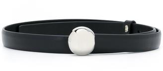 Jil Sander Circular Buckle Leather Belt