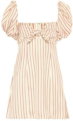ATTICO Striped off-the-shoulder minidress